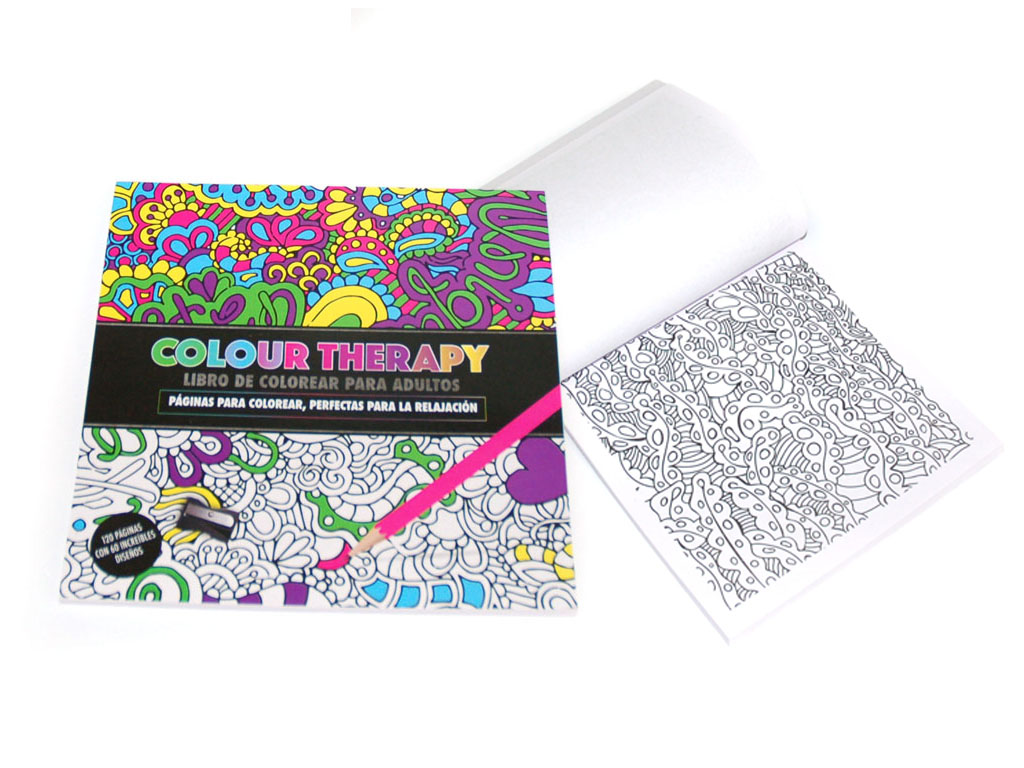 LIBRO COLOUR THERAPY 120 PAGS. cod. 2500930