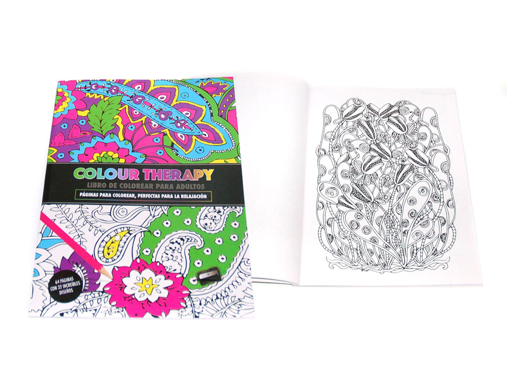 LIBRO COLOUR THERAPY 64 PAGS. cod. 2500933