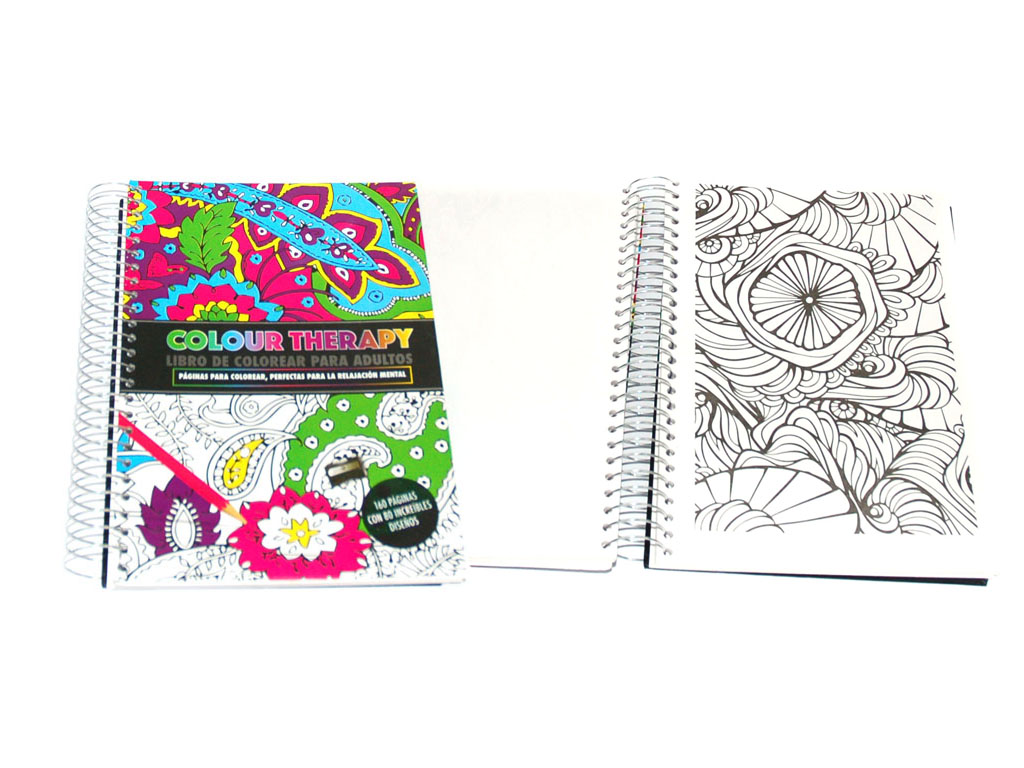 LIBRO COLOUR THERAPY 160 PAGS. ESPIRAL cod. 2500935