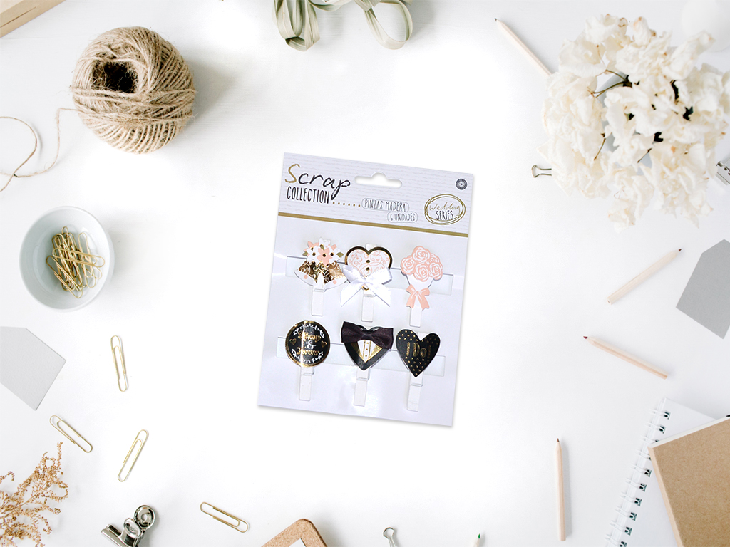 PACK 6 PINZAS MAD.WEDDING SERIES cod. 2501622