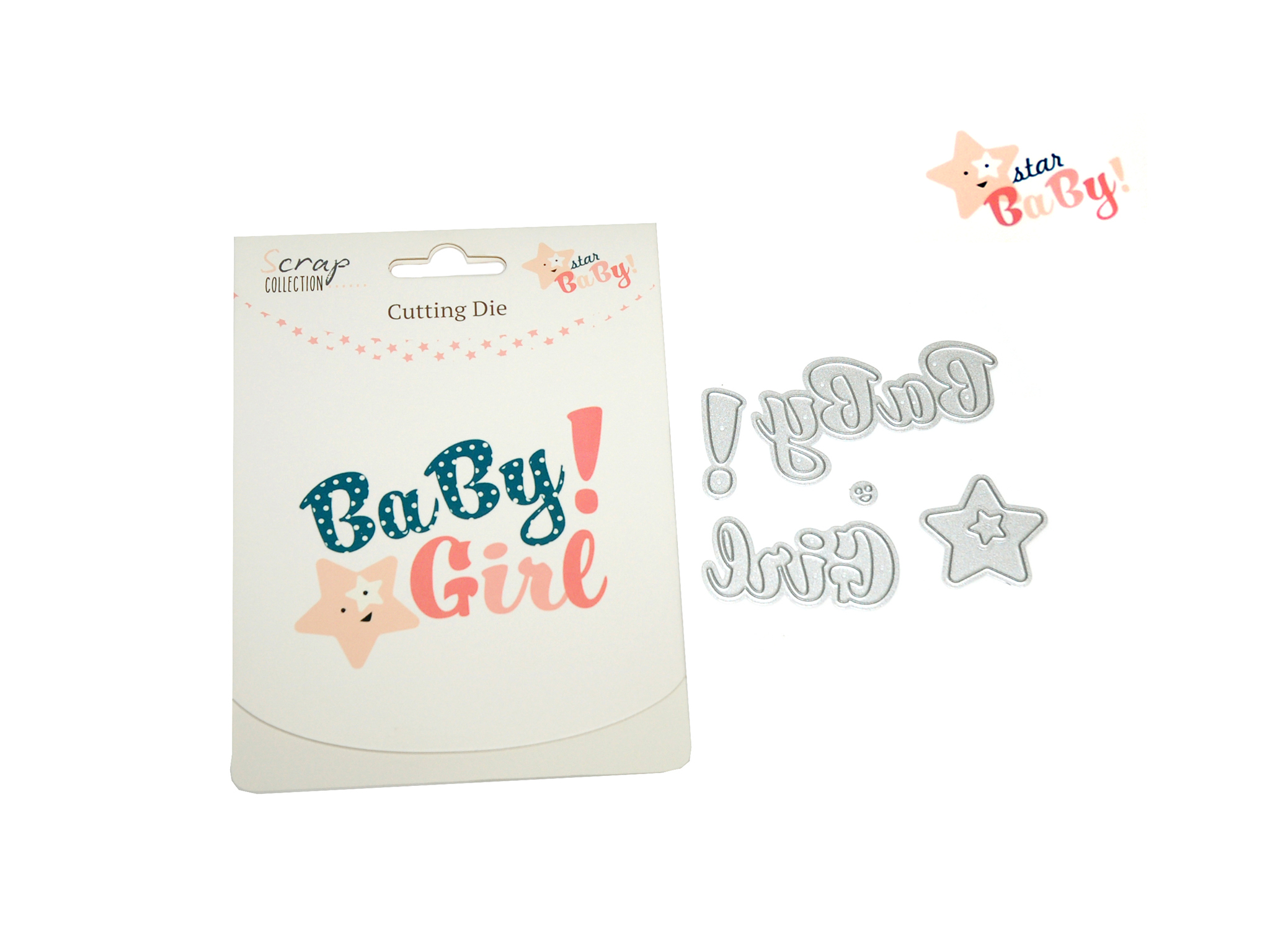 CUTTING DIES STAR BABY GIRL cod. 2501805
