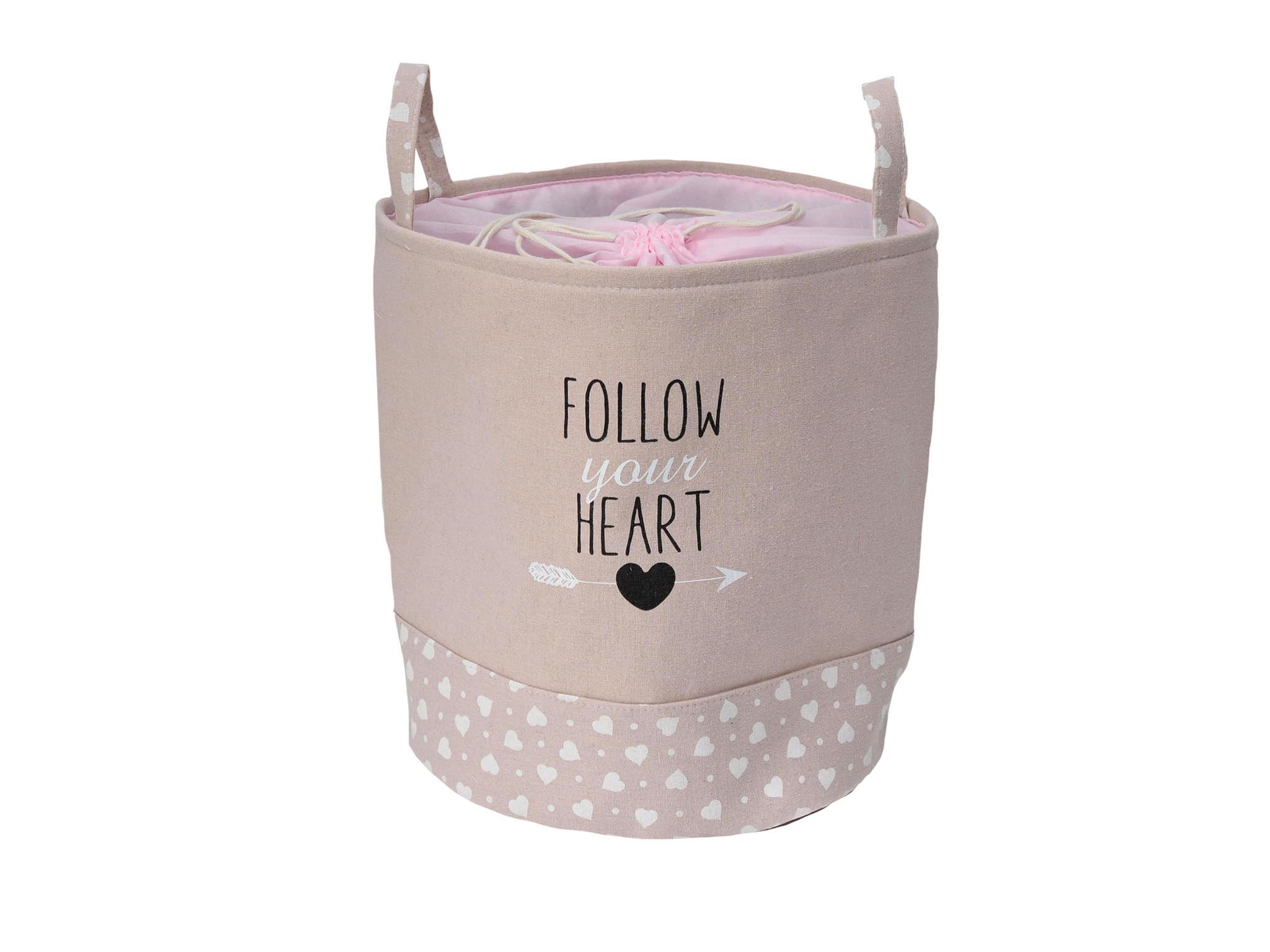 CESTA RED. ROSA FOLLOW YOUR HEART cod. 3900099