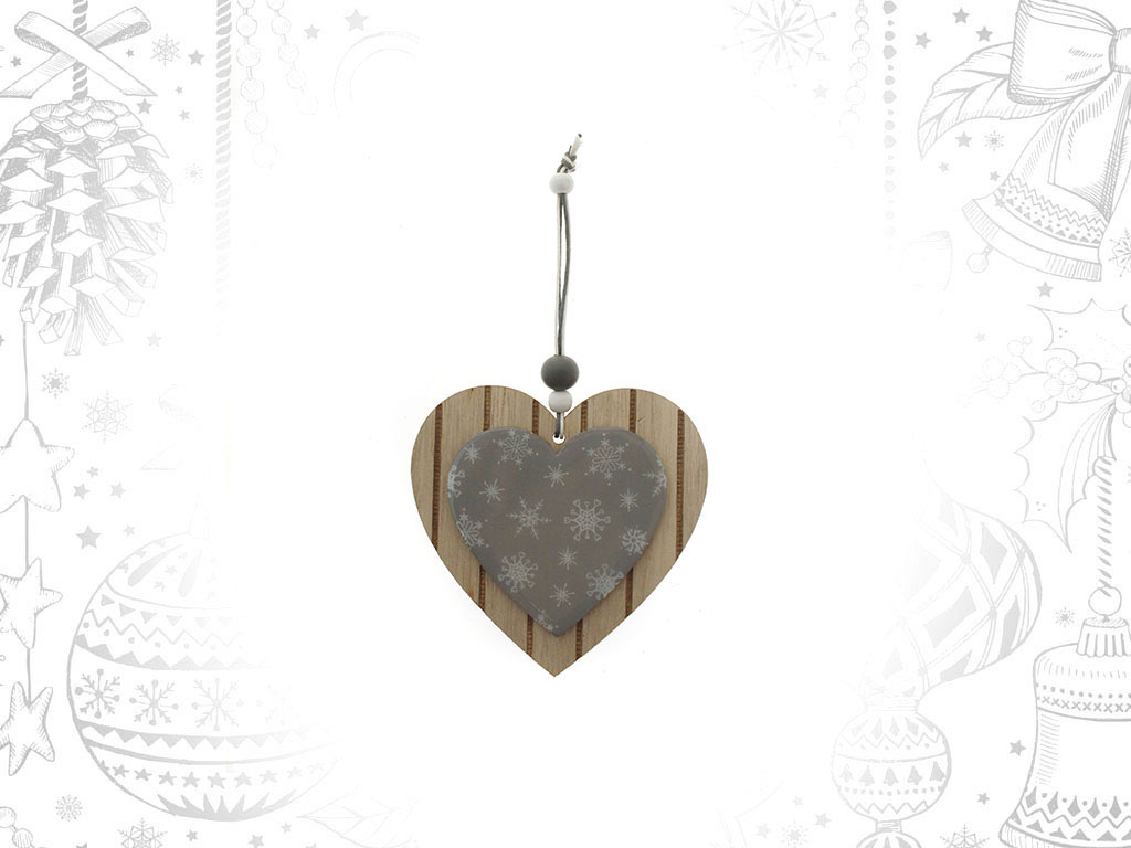 COLGANTE CORAZON NATURAL/GRIS cod. 9306262